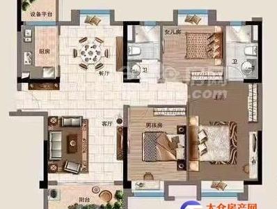 太倉實驗中學學位碧桂園136平3室2廳2衛精裝修240萬好樓層有鑰匙