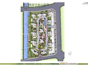滨河花园项目规划平面示意图