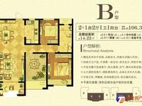 出售 东景瑞荣御蓝湾 106平3三室 毛坯220万 满二2 好楼层 带车位