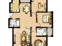 太仓陆渡奥森尚东电梯房124平3室2厅2卫毛坯192万好楼层有钥匙